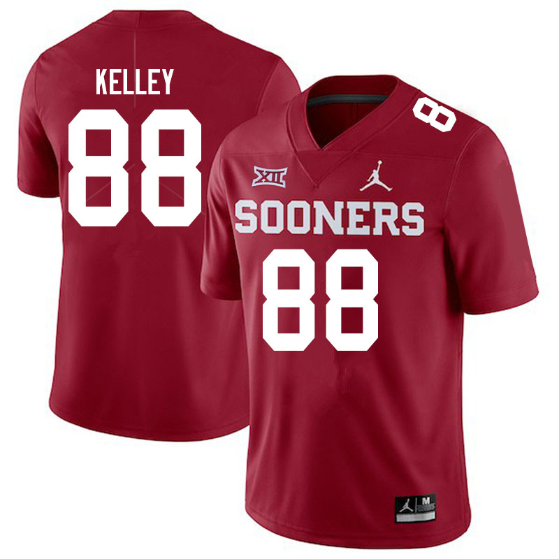 Men #88 Jordan Kelley Oklahoma Sooners Jordan Brand College Football Jerseys Sale-Crimson